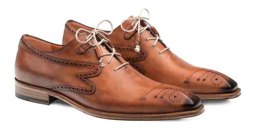 Mezlan Malcolm Lace-Up Oxford Tan