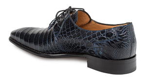 Mezlan Moscow Alligator Oxford Blue