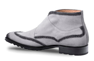 Munoz Double Monkstrap Boot Grey