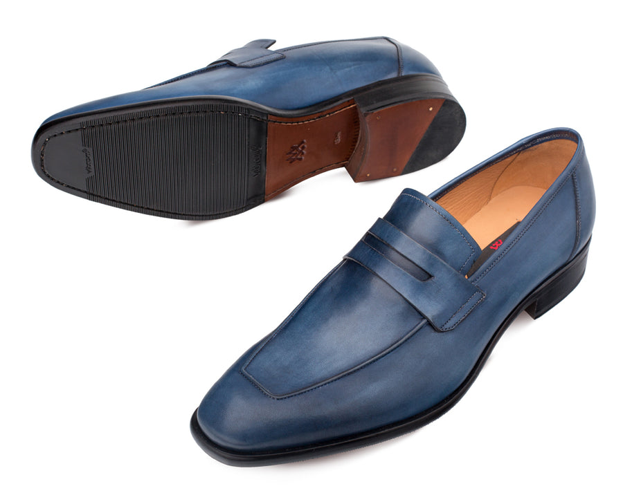 Mezlan Newport Slip-On Loafer Blue