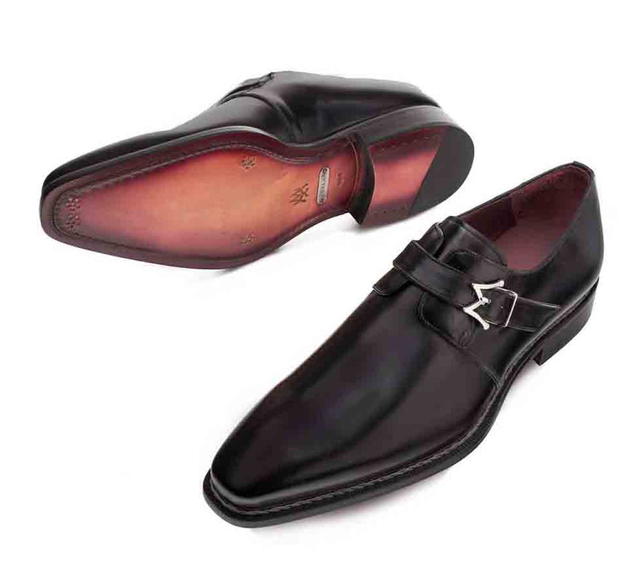 Mezlan Paden Monkstrap Shoe Black