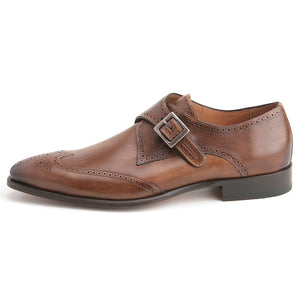 Vitoria Monkstrap Shoe Tan