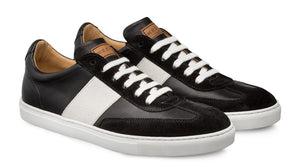 Mezlan Wyatt Lace-Up Sneaker Black/White