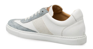 Mezlan Wyatt Lace-Up Sneaker Grey/White