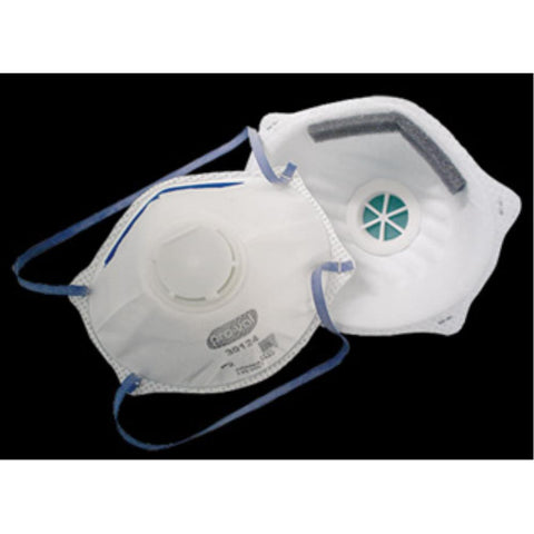 Respirators, P2, with valve, pack of 10