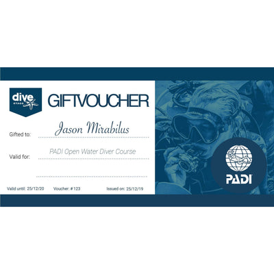 Dive Otago Gift Voucher Gift Voucher Dive Otago PADI Open Water Course