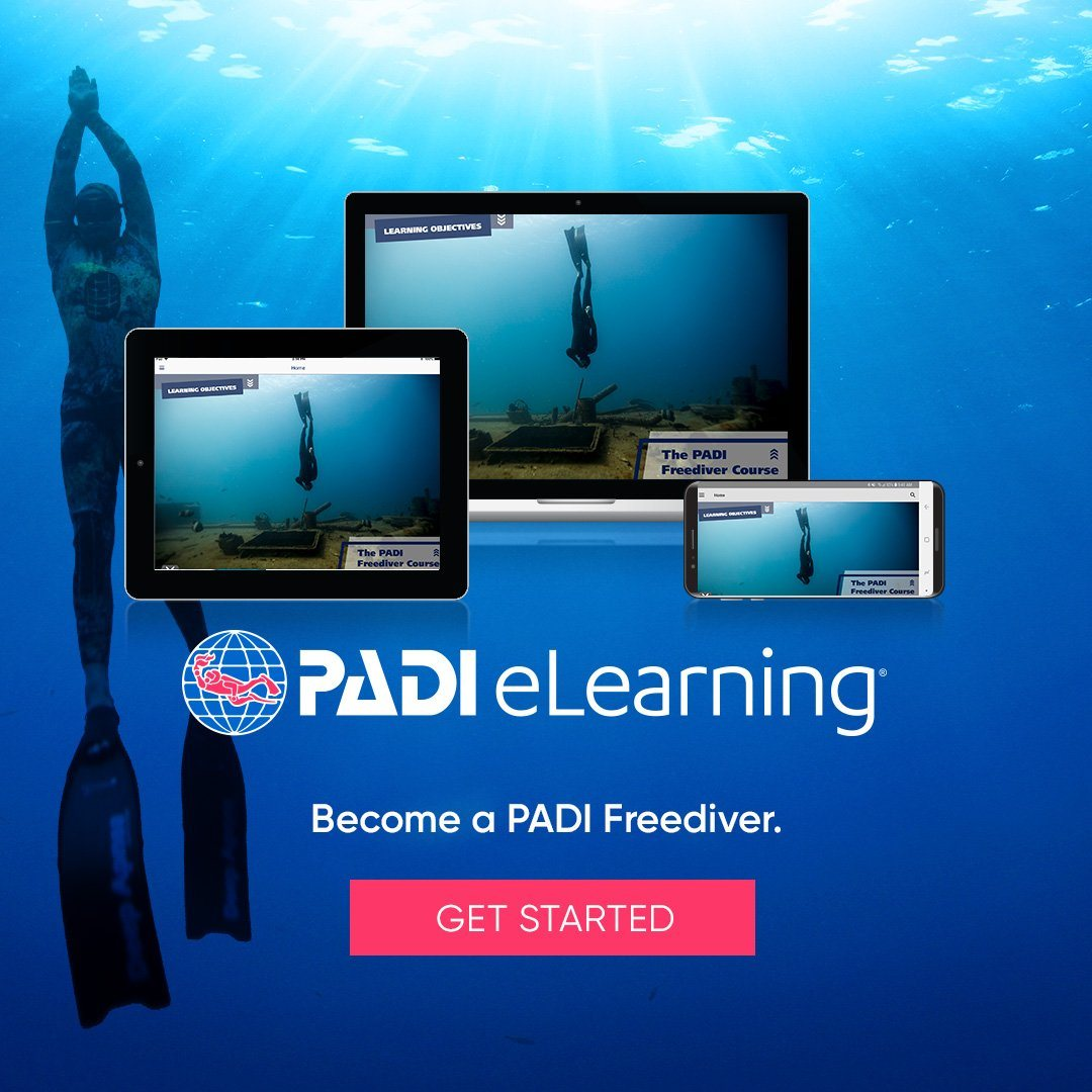 PADI Freediver eLearning Course PADI