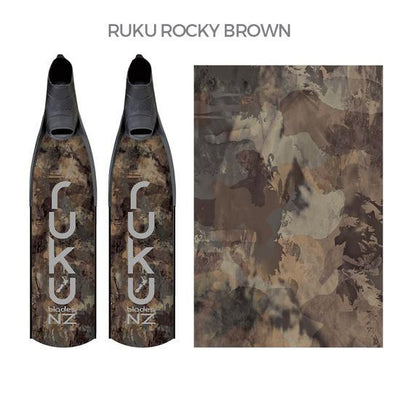 Ruku Composite Blades Ellipse Spearfishing Fins Ruku