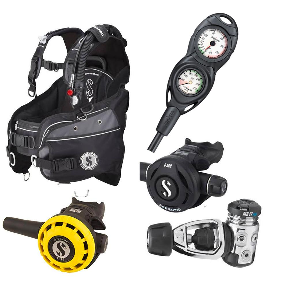Scubapro Glide X Hardware Package Packages Scubapro Suunto Depth + SPG Extra-Small