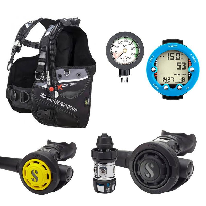 Scubapro X-One Hardware Package Packages Scubapro Suunto Depth + SPG Extra-Small