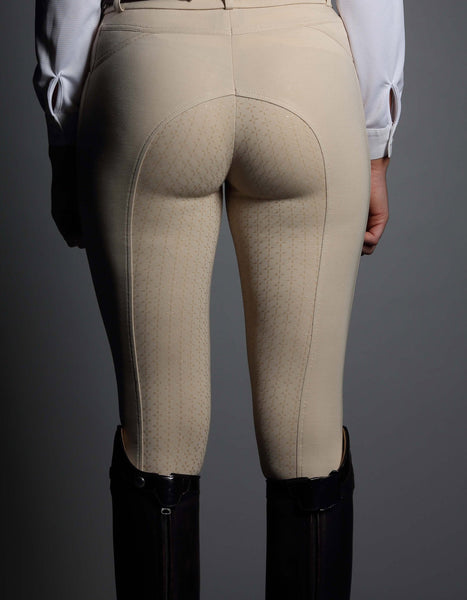 Ladies GiddyUp Cream Breeches with Silicone Seat