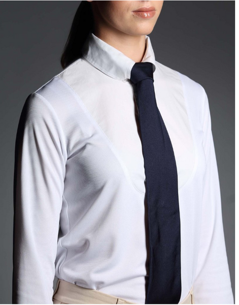 Ladies White Show Shirt - By Giddyup