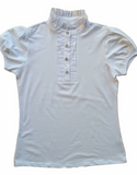 Cara Ruffle Shirt by Giddyup - White (Ladies)