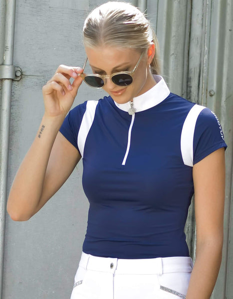 Kennedy Navy & White Competition Riding Shirt