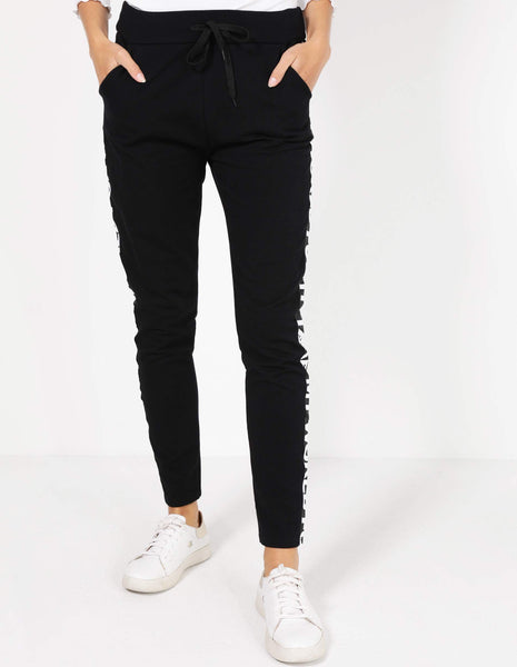 Pull On Side Script Pant