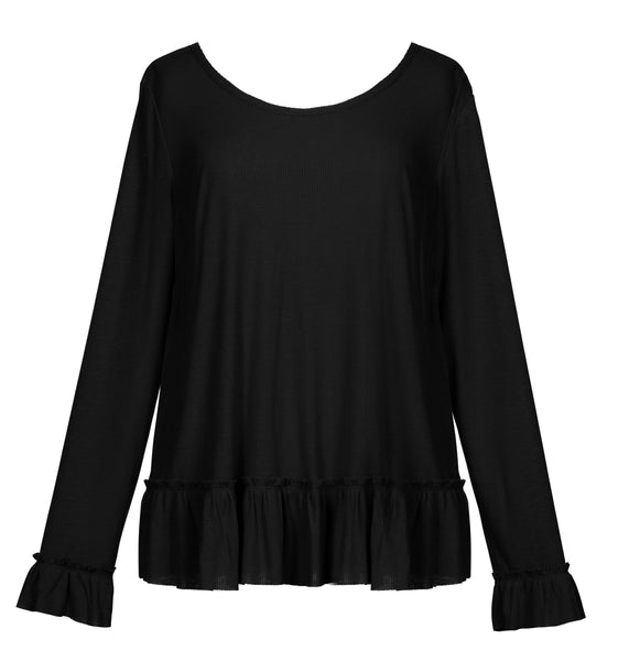 Ribbed Frill Top