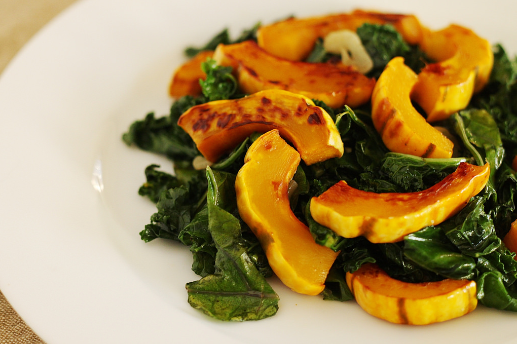 Roasted Squash With Lemon-Tahini Sauce