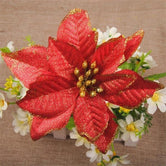 5pcs Artificial Flowers Glitter Flowers