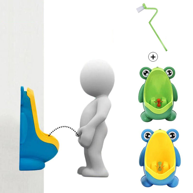 Baby Boy Wall-Mounted Frog Potty for Toilet Training