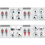 Set 11PC Resistance Bands Set