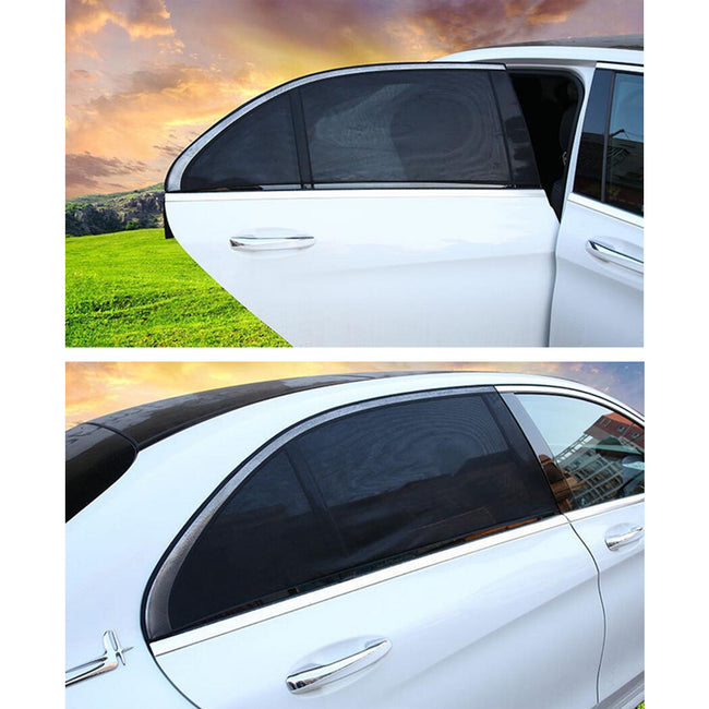 SLIP ON WINDOW SHADES - 2PCS/SET