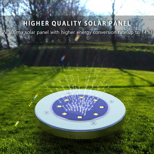 LED Solar Powered Waterproof Ground Lights