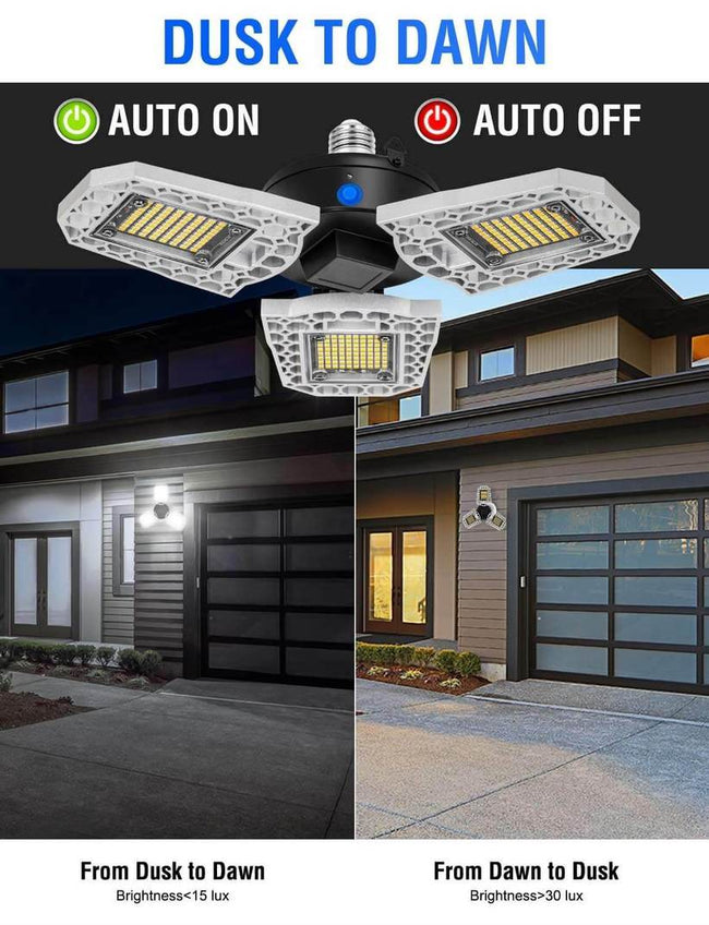 LED Three-Leaf Garage Light