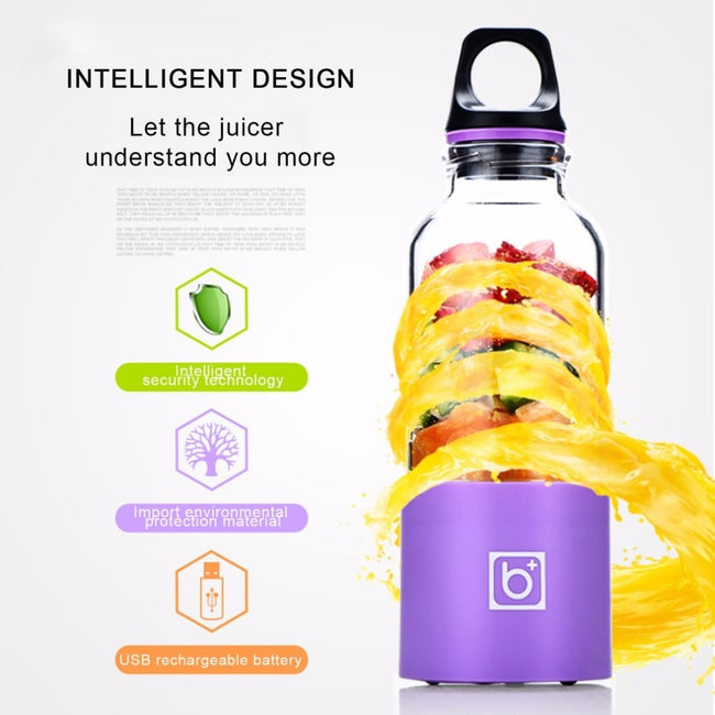 500ML Portable USB Charging Blender & Juicer