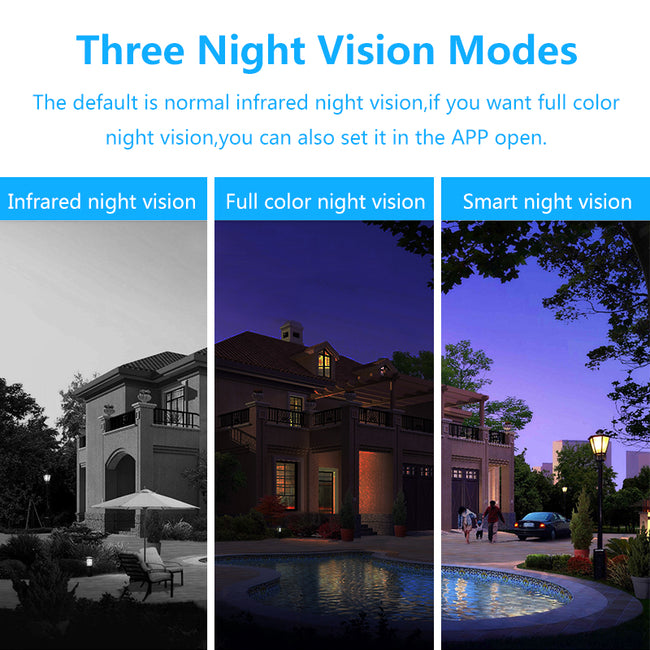 Night vision 1080p wireless outdoor ip security camera