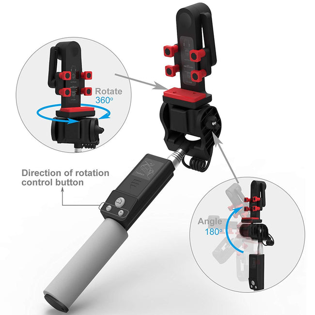 Selfie Stick Bluetooth Remote Control 360°Rotation