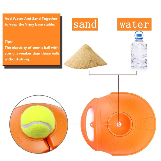 Rebound Tennis Ball Trainer, Self-Study Trainer