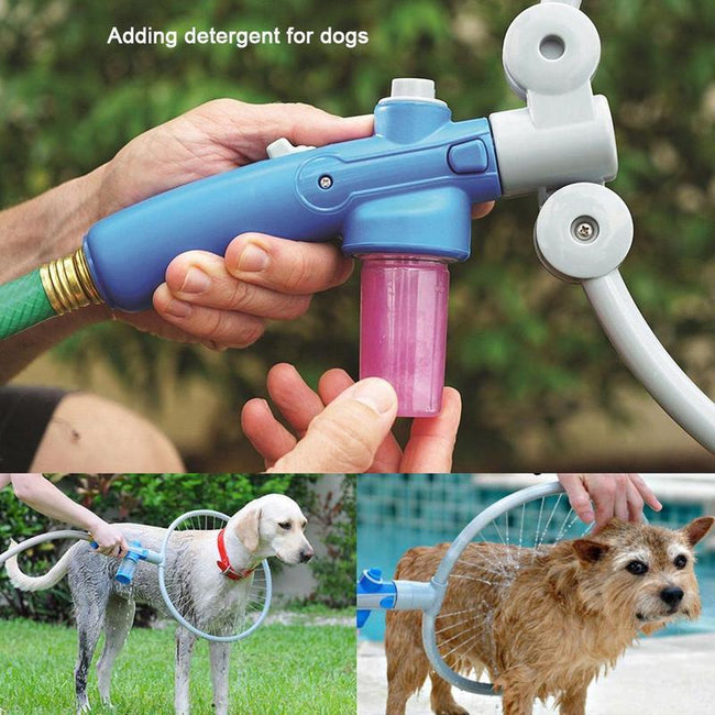 Folding Ring-Shaped Pet Grooming Shower