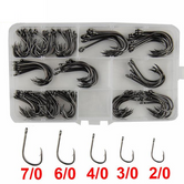 130Pcs High Carbon Steel Fishing Hooks Set