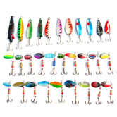 30pcs/lot Spoon Metal fishing lure