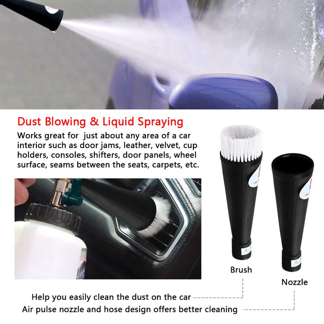 Pro Turbo Cleaning Gun -- Car Interior Cleaner