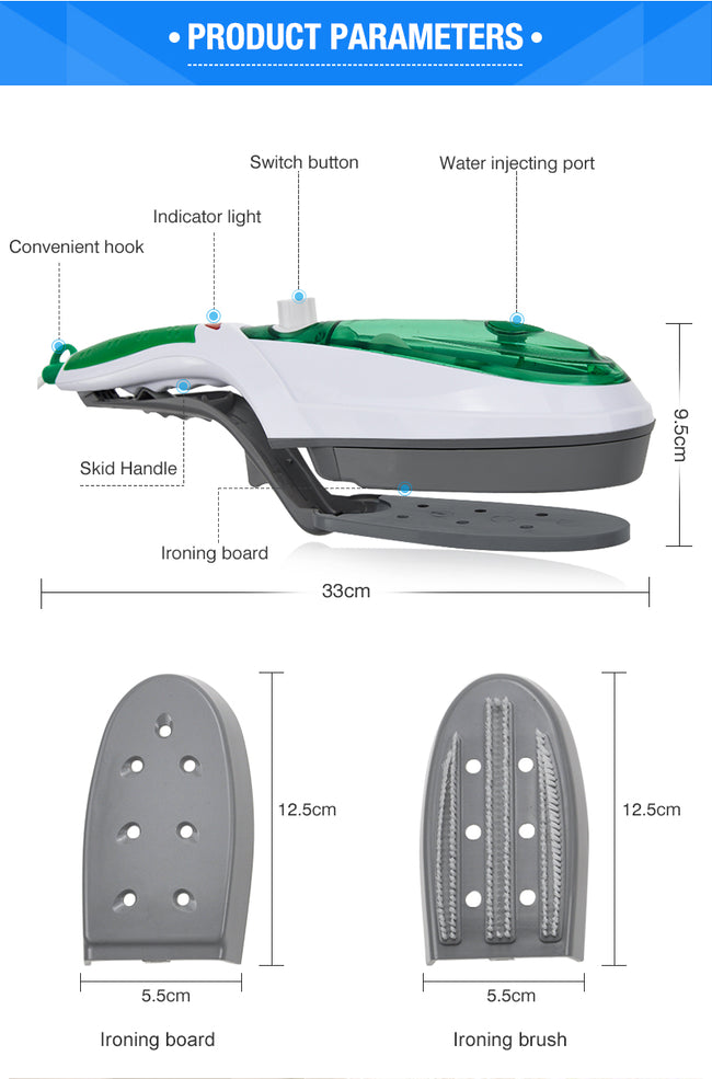 Handheld Steam Ironing Brush