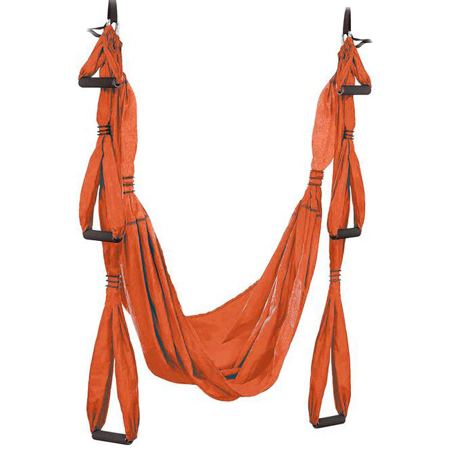 Aerial flying yoga trapeze swing