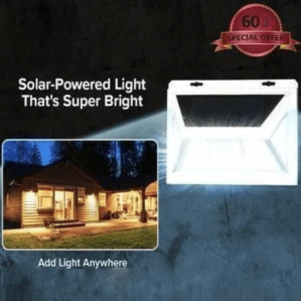 POWER SOLAR LIGHT -TURNS ON AUTOMATICALLY IN DARKNESS
