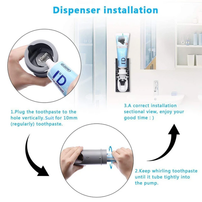 UV Light Toothbrush Holder Toothpaste Dispenser