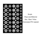 Snowflake Electrostatic Sticker 38 Pcs/Lot