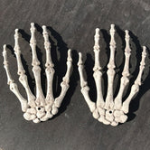 White Skeleton Hands One Pair