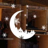 Snow Crescent Electrostatic Wall Sticker
