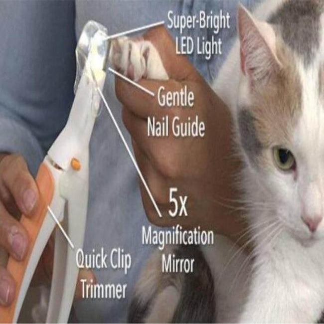 buy Cat and Dog Nail Clippers with LED Light - Pet Nail Clipper