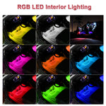 Car Interior LED Atmosphere Lights 4Pcs