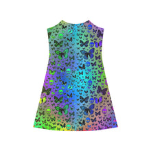 Colorful Skulls & Butterflies Alcestis Slip Dress (Model D05) - Farrell Art