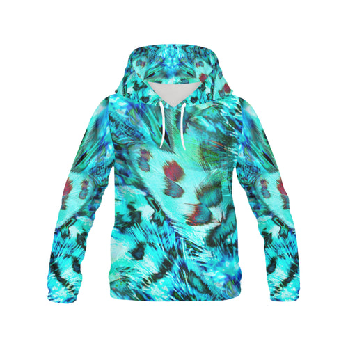 feathers Women's All Over Print Hoodie (Model H13) - Farrell Art