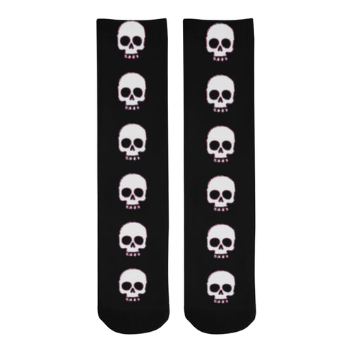 I Love Skulls Knee-High Socks - Farrell Art