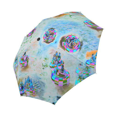 BUMBER BOATS Auto-Foldable Umbrella - Farrell Art
