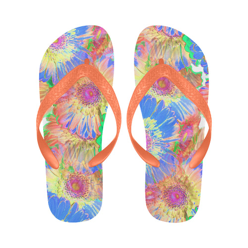 Magic Garden Flip Flops for Men/Women (Model 040) - Farrell Art