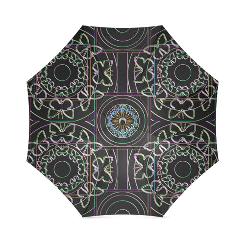 butterfly ring mandala Foldable Umbrella